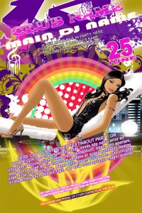 glamourl-party-flyer